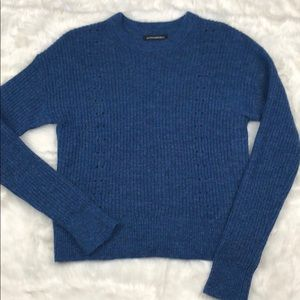 Banana Republic Cropped Pointelle Knit Sweater